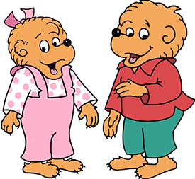 livingbooks berenstain bears inthedark rh wanderfulstorybooks com Brother Bear Clip Art Words Granna Bear Clip Art